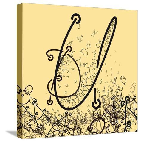 Elaborate Composition of Letters a Custom Font that Contains the Whole Alphabet and Representing a-Eugen Domentean-Stretched Canvas Print