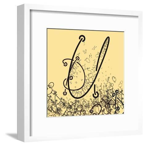 Elaborate Composition of Letters a Custom Font that Contains the Whole Alphabet and Representing a-Eugen Domentean-Framed Art Print