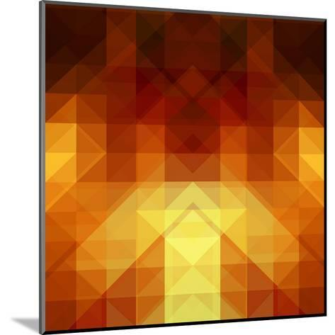 Abstract Background from Triangle Shapes-KsanaGraphica-Mounted Art Print