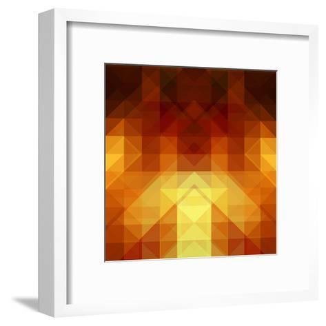 Abstract Background from Triangle Shapes-KsanaGraphica-Framed Art Print
