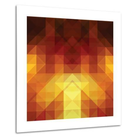 Abstract Background from Triangle Shapes-KsanaGraphica-Metal Print