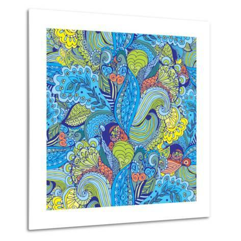 Abstract Floral Pattern - Tropical Motif-radugaart-Metal Print