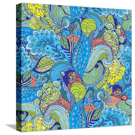 Abstract Floral Pattern - Tropical Motif-radugaart-Stretched Canvas Print