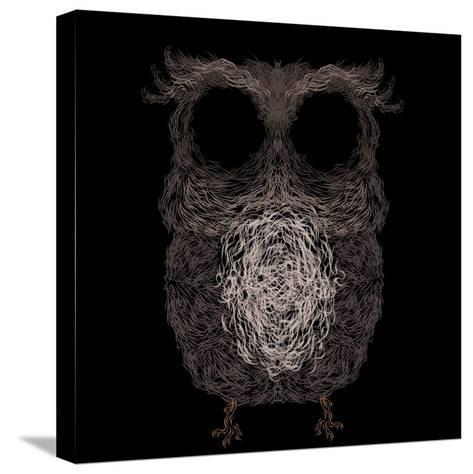 Owl Poster. Vector Illustration.- Darcraft28-Stretched Canvas Print