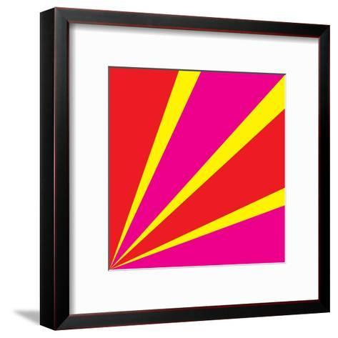 Rays of Color Pink and Red-Vector Goodi-Framed Art Print
