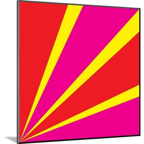 Rays of Color Pink and Red-Vector Goodi-Mounted Art Print