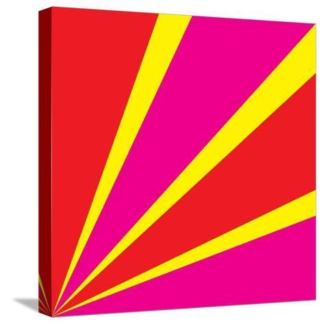 Rays of Color Pink and Red-Vector Goodi-Stretched Canvas Print
