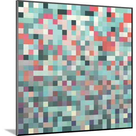 Pixel Art Style Pixel Background-Mike Taylor-Mounted Art Print