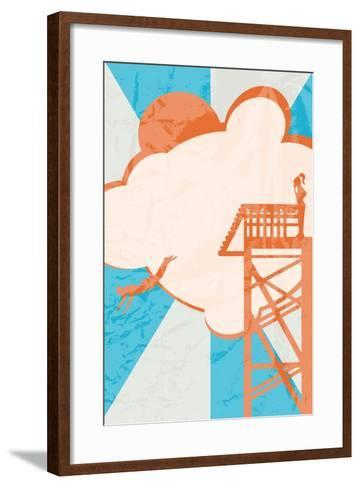 Diver-Hd Connelly-Framed Art Print