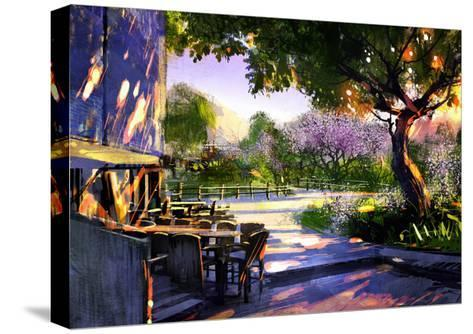 Digital Painting Showing Beautiful Sunny in the Park,Illustration-Tithi Luadthong-Stretched Canvas Print
