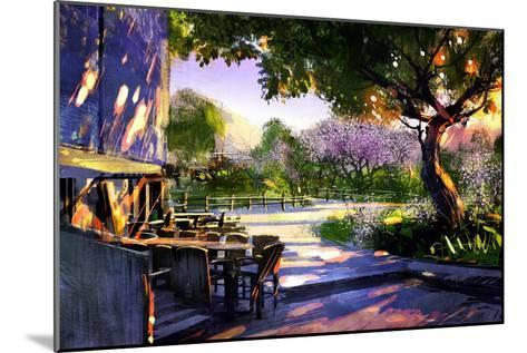 Digital Painting Showing Beautiful Sunny in the Park,Illustration-Tithi Luadthong-Mounted Art Print