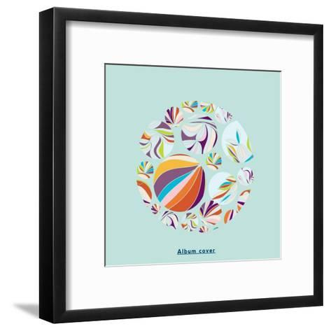 Abstract Circles Background - with Illustrative Design Elements-run4it-Framed Art Print
