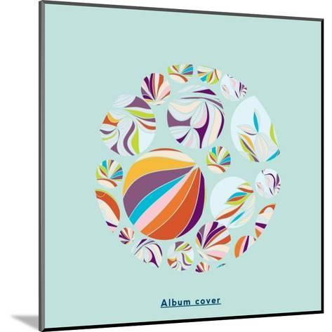 Abstract Circles Background - with Illustrative Design Elements-run4it-Mounted Art Print