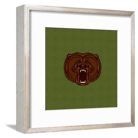 Hand Drawn Bear- anastaciaigel-Framed Art Print