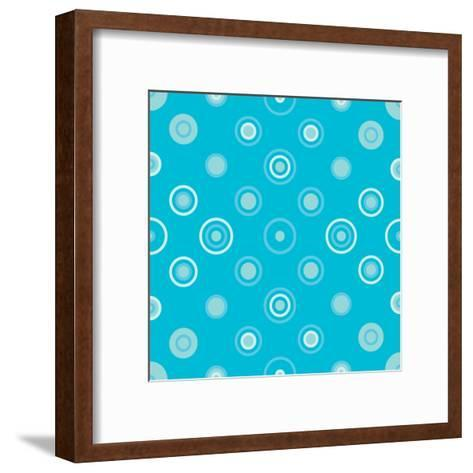 Circle Abstract Pattern.Halftone Dotted Seamless Texture for Your Design.- Miloje-Framed Art Print
