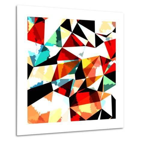 Abstract Background with Triangles and Colorful Geometric Shapes. Texture Pattern for Covers, Banne- Romas_Photo-Metal Print