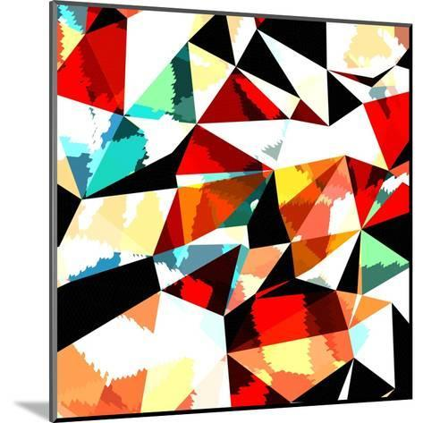 Abstract Background with Triangles and Colorful Geometric Shapes. Texture Pattern for Covers, Banne- Romas_Photo-Mounted Art Print