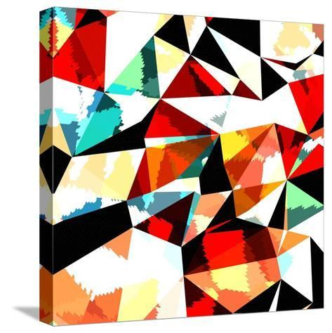Abstract Background with Triangles and Colorful Geometric Shapes. Texture Pattern for Covers, Banne- Romas_Photo-Stretched Canvas Print