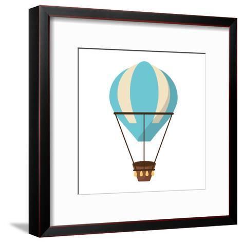 Isolated Hot Air Balloon Design- Jemastock-Framed Art Print
