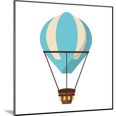 Isolated Hot Air Balloon Design- Jemastock-Mounted Art Print