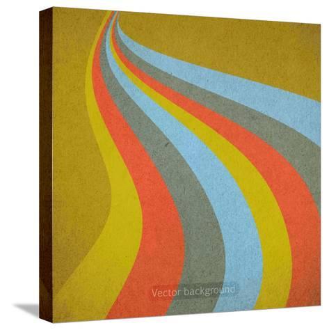 Grunge Retro Vector Background-LeksusTuss-Stretched Canvas Print
