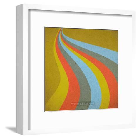 Grunge Retro Vector Background-LeksusTuss-Framed Art Print