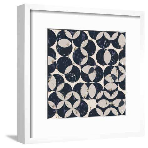 Seamless Pattern Background, Halftone, with Circles, Grungy, Seamless-Kirsten Hinte-Framed Art Print