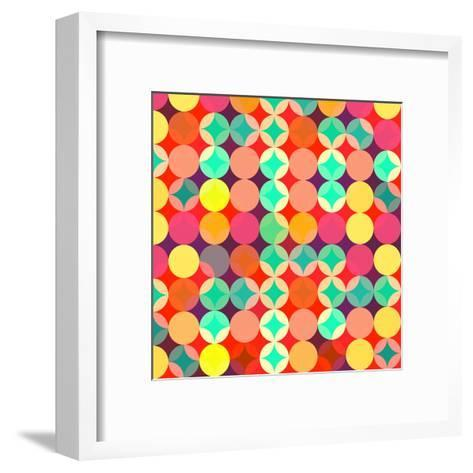 Retro Style Abstract Colorful Background-HAKKI ARSLAN-Framed Art Print