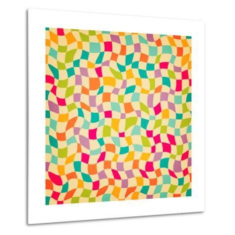 Seamless Color Mosaic Background. Vector Illustration.-New Line-Metal Print