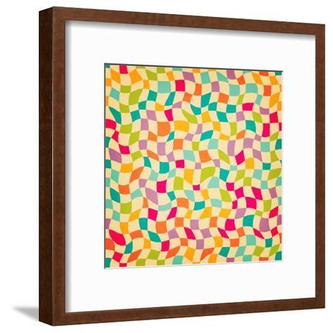 Seamless Color Mosaic Background. Vector Illustration.-New Line-Framed Art Print