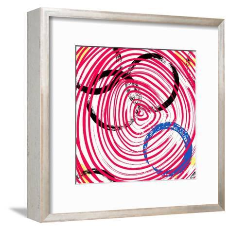 Abstract Background Pattern, with Circles, Strokes and Splashes-Kirsten Hinte-Framed Art Print