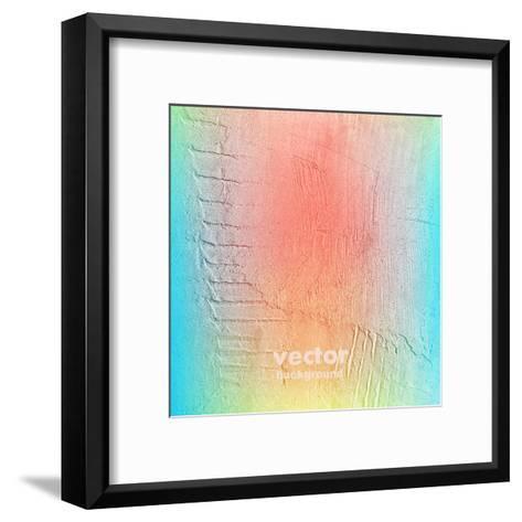 Grunge Retro Vintage Paper Texture, Vector Background-LeksusTuss-Framed Art Print