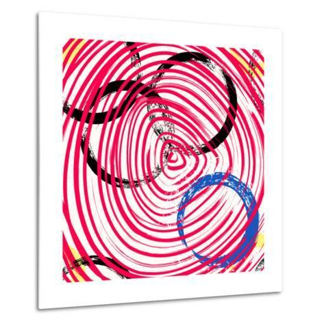 Abstract Background Pattern, with Circles, Strokes and Splashes-Kirsten Hinte-Metal Print