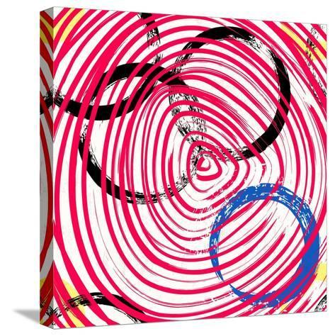 Abstract Background Pattern, with Circles, Strokes and Splashes-Kirsten Hinte-Stretched Canvas Print