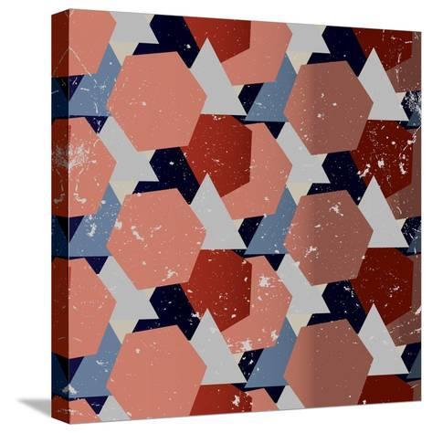 Grunge Geometric Background. Vector Illustration-Veronika M-Stretched Canvas Print