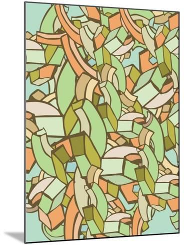 Colorful Abstract Background- gudron-Mounted Art Print