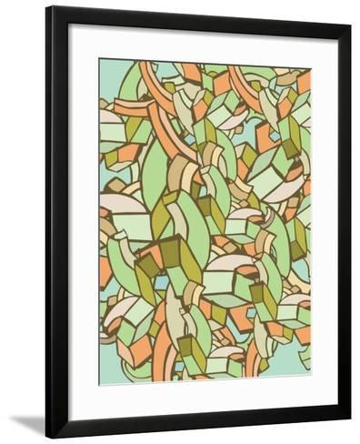 Colorful Abstract Background- gudron-Framed Art Print