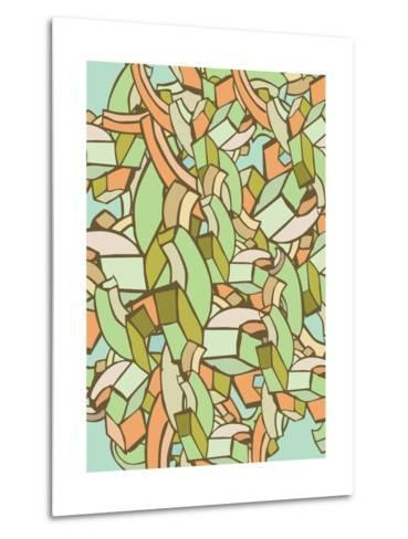 Colorful Abstract Background- gudron-Metal Print