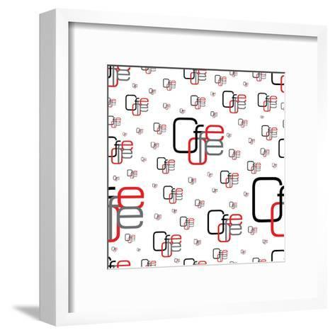 Seamless Background Clove Coffee with Different Sizes of Black, Gray and Red Letters- Sergio99-Framed Art Print