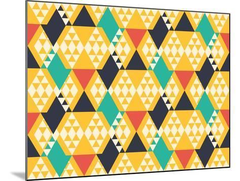 Abstract Retro Pattern. Vector Illustration.- artsandra-Mounted Art Print
