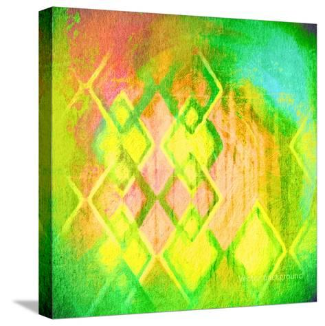 Grunge Retro Vintage Paper Texture, Vector Background-LeksusTuss-Stretched Canvas Print