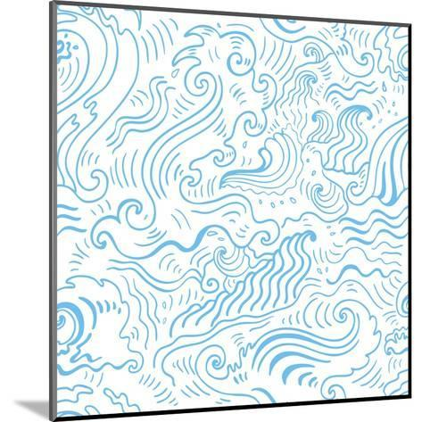 Grange Sea Background. Seamless Hand-Drawn Vector Illustration-Katyau-Mounted Art Print