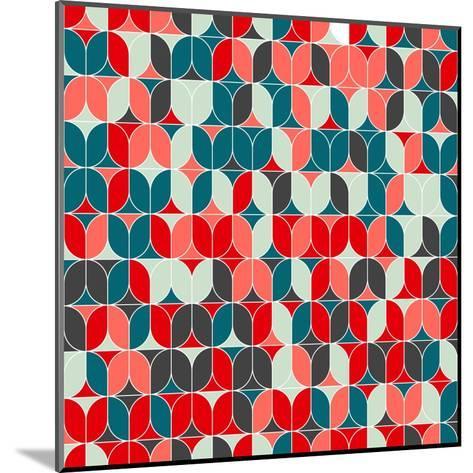 Vintage Seamless Geometrical Colorful Pattern. Texture Background for Web, Print, Home Decor, Texti-Svetlana Lukoyanova-Mounted Art Print