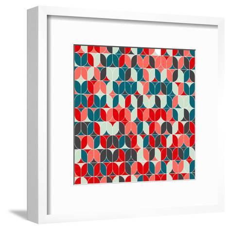 Vintage Seamless Geometrical Colorful Pattern. Texture Background for Web, Print, Home Decor, Texti-Svetlana Lukoyanova-Framed Art Print