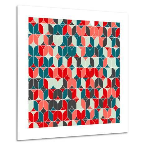 Vintage Seamless Geometrical Colorful Pattern. Texture Background for Web, Print, Home Decor, Texti-Svetlana Lukoyanova-Metal Print