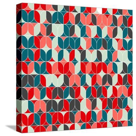 Vintage Seamless Geometrical Colorful Pattern. Texture Background for Web, Print, Home Decor, Texti-Svetlana Lukoyanova-Stretched Canvas Print