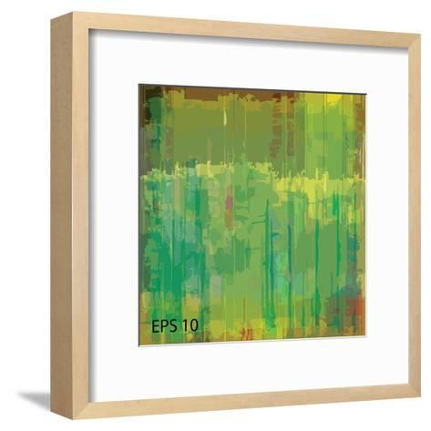 Abstract Grunge Scratched Texture. Eps10 Vector-iulias-Framed Art Print