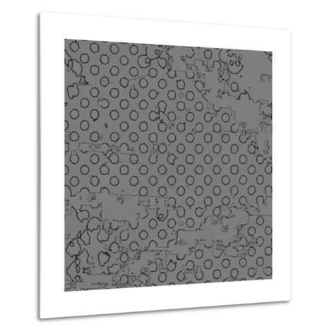 Grunge Halftone Vector Background. Grunge Halftone Dots Vector Texture Background. Dotted Backgroun- milart-Metal Print