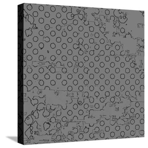 Grunge Halftone Vector Background. Grunge Halftone Dots Vector Texture Background. Dotted Backgroun- milart-Stretched Canvas Print