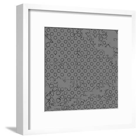 Grunge Halftone Vector Background. Grunge Halftone Dots Vector Texture Background. Dotted Backgroun- milart-Framed Art Print